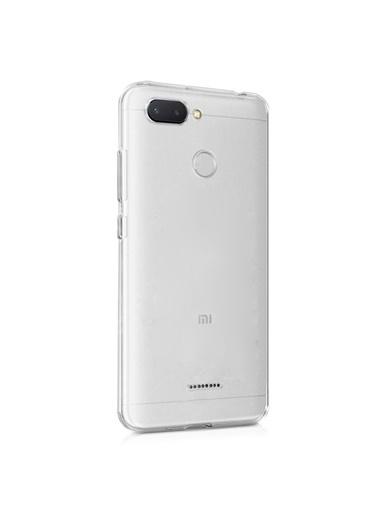 Microsonic Xiaomi Redmi 6 Kılıf Transparent Soft  Beyaz